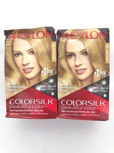 Revlon-Colorsilk-Beautiful-Color-Permanent-Hair-Dye-Medium-Blonde-74-Lot-of-2
