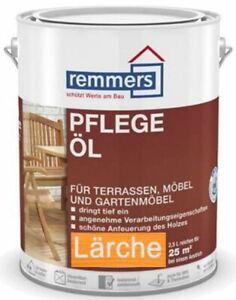 €12/L Spar Set Remmers Pflege Öl Farbe Lärche 2,5 L für Teak, Bangkirai, Lärche