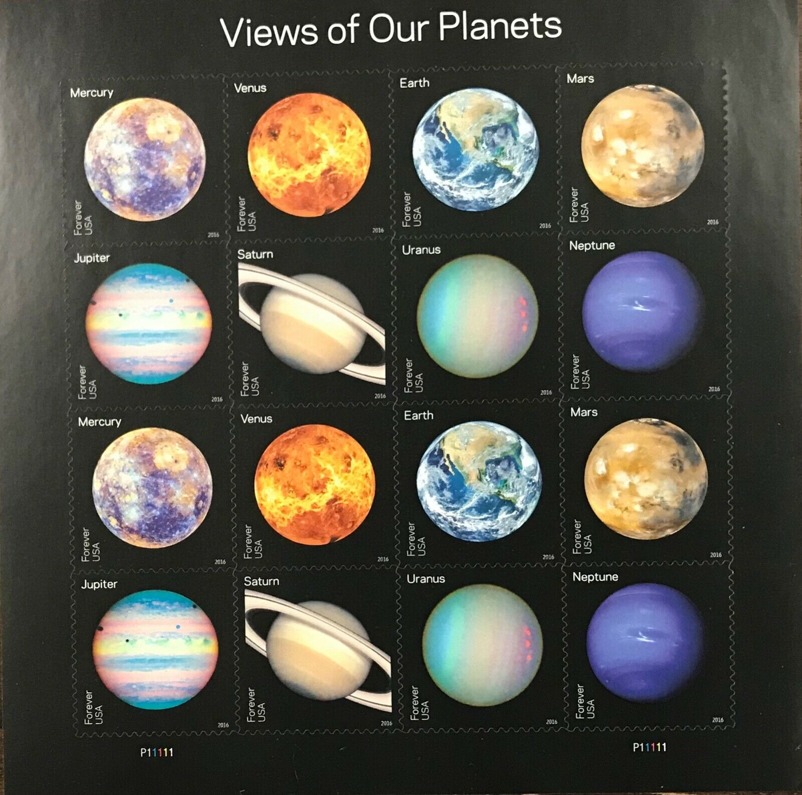 5069-5076    Views of our Planets   MNH Forever sheet of 16   FV $8.80   In 2016
