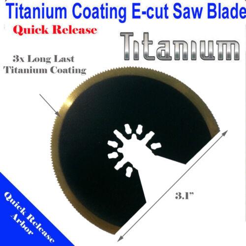 Titanium Bi Metal Blade Oscillating MultiTool Milwaukee Craftsman Bolt On Skil