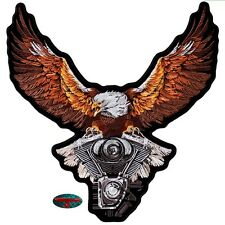 EAGLE V2 STORM BIKER Patch groß Aufnäher Aufbügler Backpatch Harley Adler USA