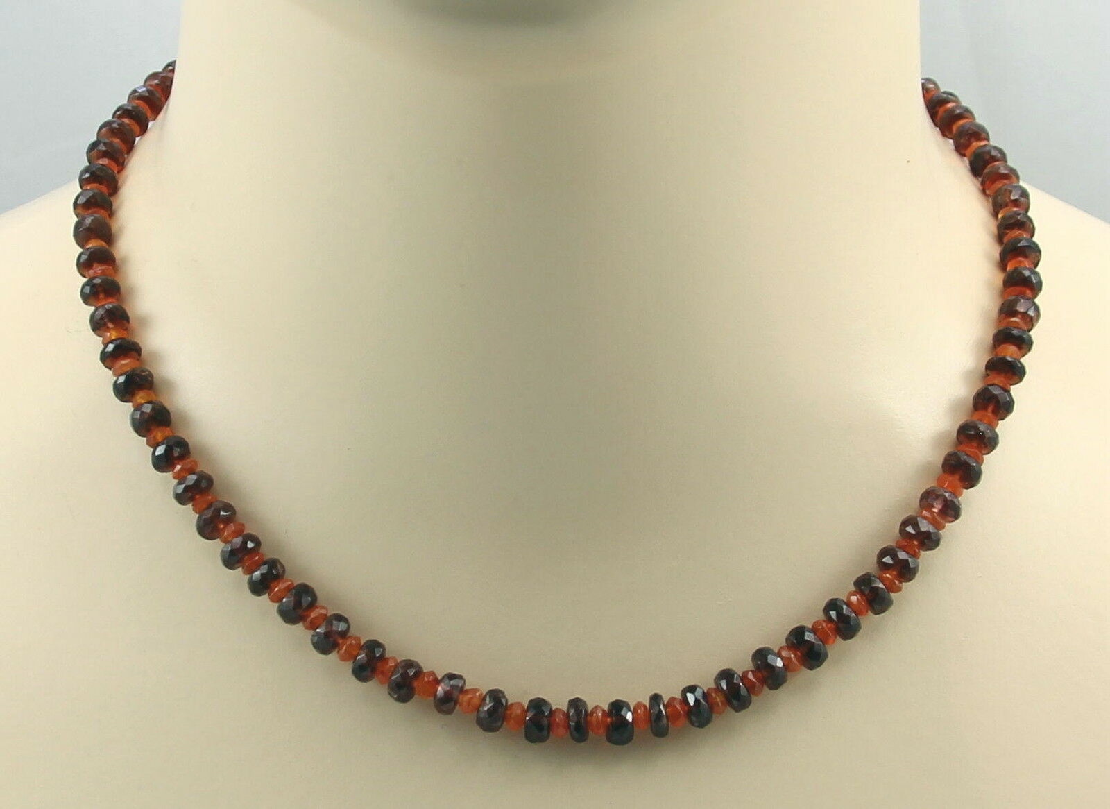 Granat Kette reder Granat mit Karneol Halskette 45 cm lang - Gemini Gemstones