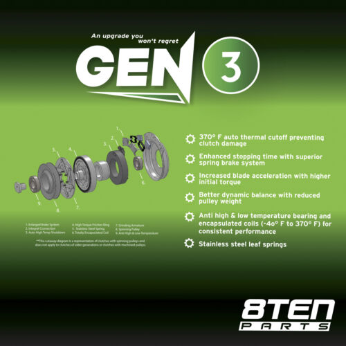 8TEN Electric PTO Clutch Exmark Toro Warner 109-7666 103-2453 103-6589 103-3244