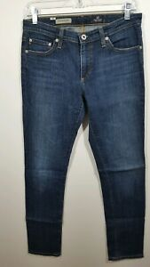 Ag-adriano-goldschmied-The-Premier-Skinny-Straight-Cotton-Blend-Jeans-Size-28R