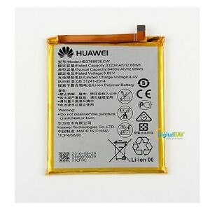 Batteria Originale Huawei HB376883ECW 3400mAh Per Huawei P9 Plus