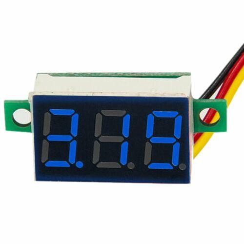 LED Digital Display Volt Voltage Voltmeter Panel Accurate Meter Green+Blue+Red