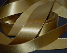 *** ANTIQUE GOLD SATIN - XMAS -  Ribbon - 25mm Wide ***