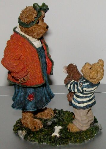 """Boyds Bears /""""Momma Softheart with Bobby/"""" puppy pet Mother NIB #228455 dog"""