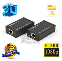 Hdmi Lan Extender Repeater Over Single Cat5e/6 Rj45- Up To 200ft 60m 1080p 3d