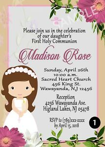 Image is loading Girls-and-Boys-First-Holy-Communion-Invitation-Cards