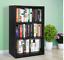 3 - tier adjustable shelf bookcase, simple home - black