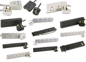 1-2-3-4-6-GANG-Switched-WAY-2m-5m-10m-Extension-Lead-Cable-Surge-Protected-15m