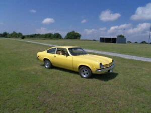 RARE ONE OWNER LOW MILEAGE 1975 CHEV VEGA WITH A/C