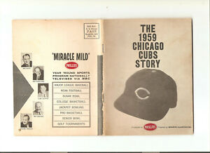 THE 1959 CHICAGO CUBS STORY - 63 PAGES PHILLIES CIGARS VG/EX