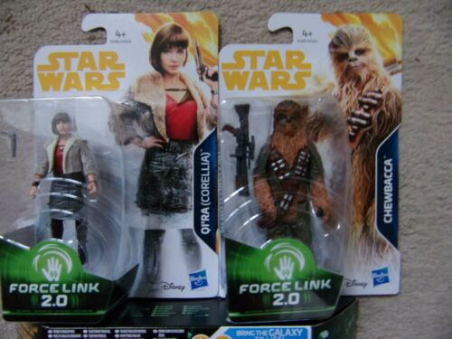 STAR WARS nuova forza LINK 2.0 HAN SOLO CHEWBACCA qi/'ra Starter Set Action Figure