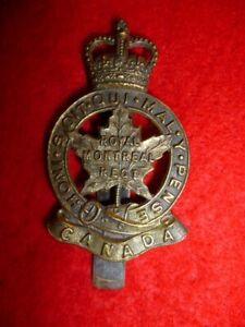The-Royal-Montreal-Regiment-Cap-Badge-QC-Canada-Post-1953