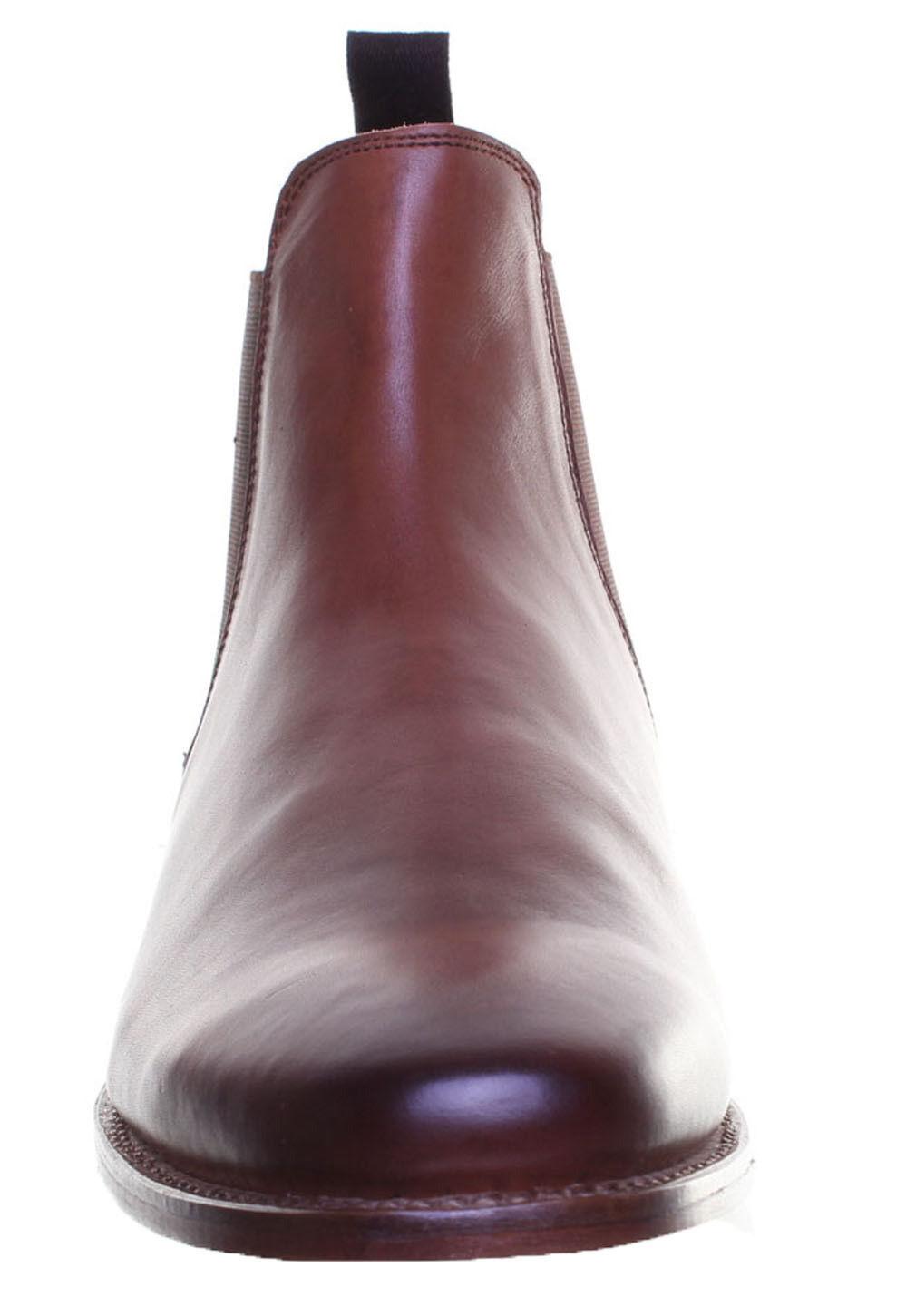 Justin Reece Trevor Herren Leder Leder Leder Sole Casual Pull on Chelsea Premium GroBe EU 35 22a0ab