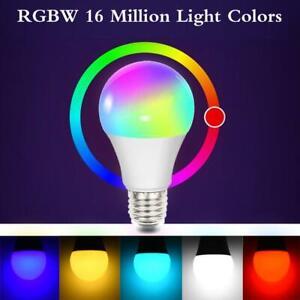 LED-Smart-Gluehbirne-Licht-E27-RGB-CW-Birne-WiFi-Lampe-Fuer-Alexa-Google-Home-DE