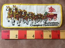 Huge Vintage Budweiser Champion Clydesdales Patch ~ Horse 75WZ