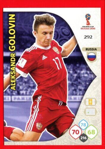 WC RUSSIA 2018 RUSSIA GOLOVIN Card Base 292 Panini Adrenalyn
