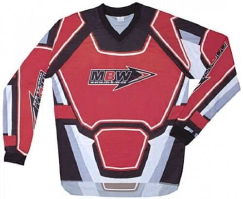 MBW Motorrad Motocross Hemd Cross rot Größe S bis 3XL