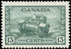 1942-Canada-Mint-NH-F-VF-Scott-258-13c-KGVI-War-Stamp