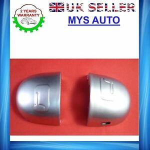 RENAULT-Megane-Scenic-door-handle-cover-grey-door-lock-cover-silver-left-side-X2