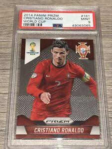 PSA 9 Cristiano Ronaldo 2014 Panini PRIZM FIFA WORLD CUP BRASIL #161 MINT
