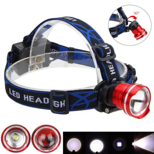 Zoomable XML T6 LED Headlamp Headlight Head Torch Flashlight Work Light Lamp
