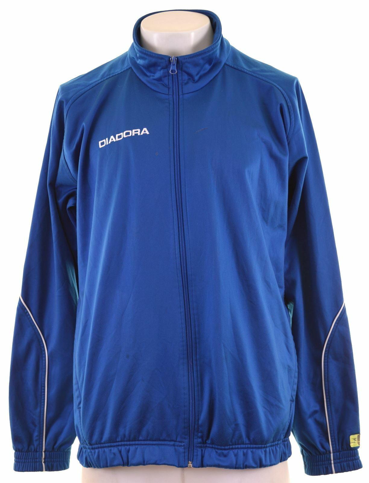 DIADORA Mens Tracksuit Top Jacket XL Blue Polyester GY19
