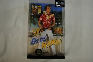 ELVIS-PRESLEY-BLUE-HAWAII-BARBIE-COLLECTOR-PINK-LABEL-DOLL-NEW-BOXED-75TH-B-DAY