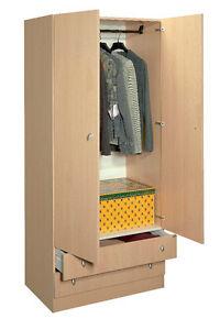 Mobile guardaroba con 2 cassetti e asta porta abiti BENIGNIMOBILI | eBay