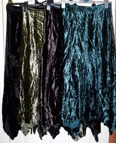 NEW GORGEOUS QUALITY BLACK OR BROWN VELVET SKIRT SIZES 8//10 10//12