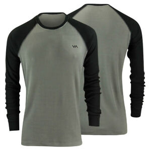 RVCA-Mens-VA-Sport-Source-Thermal-Shirt-Gray-Black