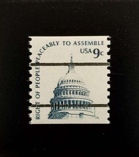 1976 9c Right to Assemble Peaceably, Coil Scott 1616b M
