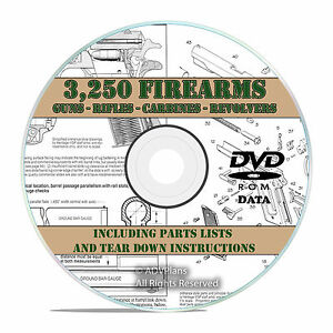 3-250-Rifle-Gun-Pistol-Shotgun-Owners-Manuals-and-Tear-Downs-on-DVD-V21