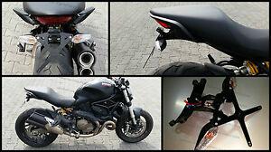 Portatarga Regolabile Ducati Monster 821 1200 + Luce Targa