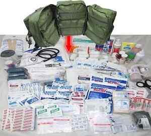 ELITE FIRST AID Corpsman M17 Medic Bag Trauma Kit STOCKED Military Survival ODG+