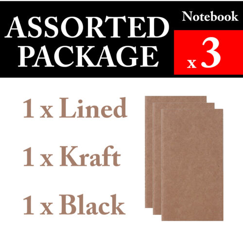 3 x Notebook Assorted Package Refills Vintage Travel Journal Notebook Diary