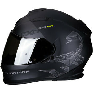 Motorcycle-Helmet-Scorpion-EXO-510-Air-Pique-Matte-Black-Silver-M