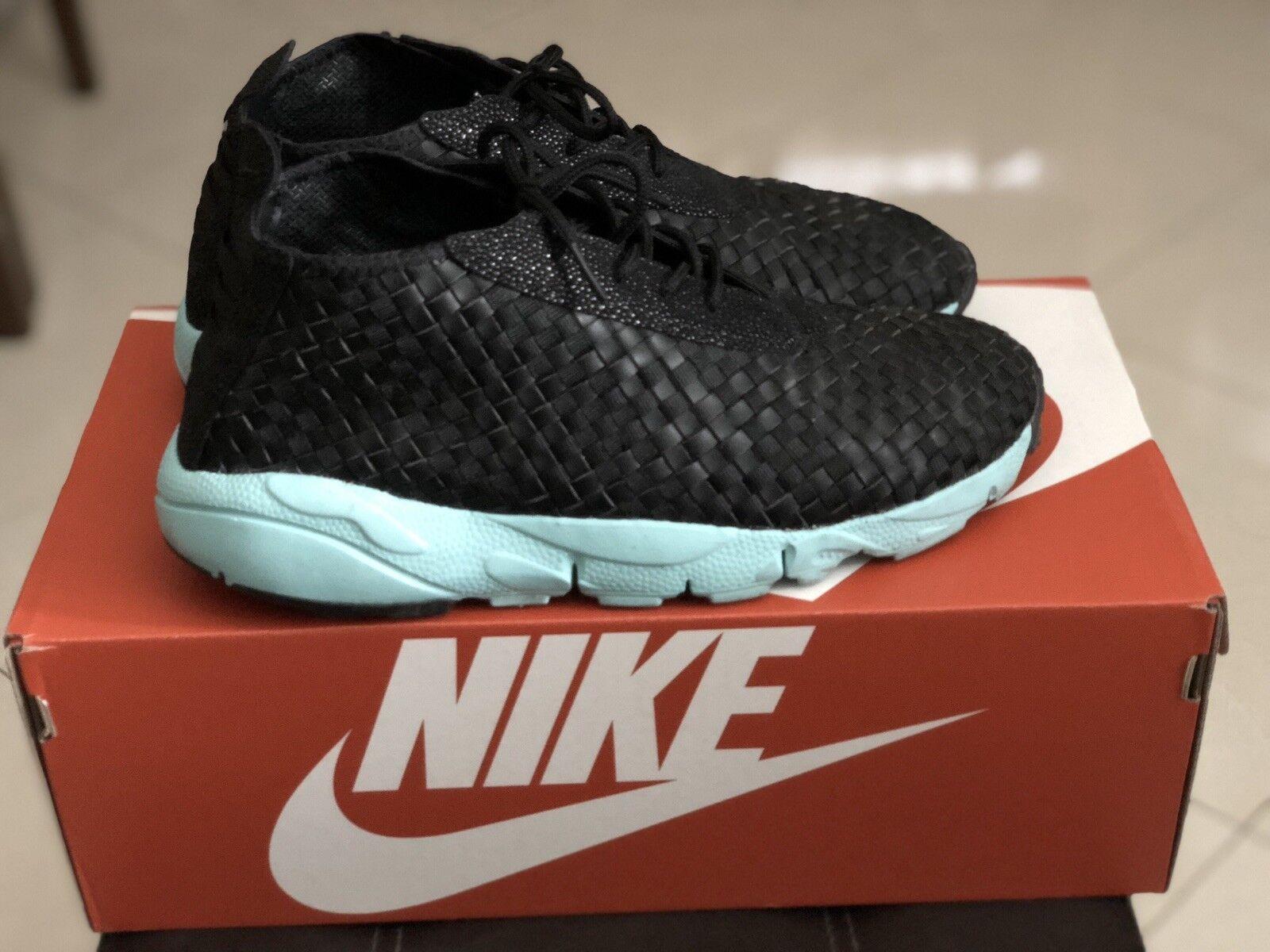 Nike Footscape Desert Chukka Black hyperbluee Sz 10