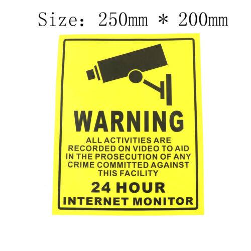 CCTV Security Camera System Warning Sign Sticker Decal Surveillance 200mm*lo