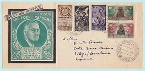 1946-CORPO-POLACCO-5-valori-su-lettera-da-Barletta-a-Barcellona