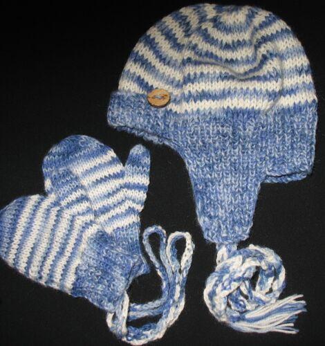 Original Tejer patrón-Lindo Bebé Sherlock Holmes Sombrero y Mitones