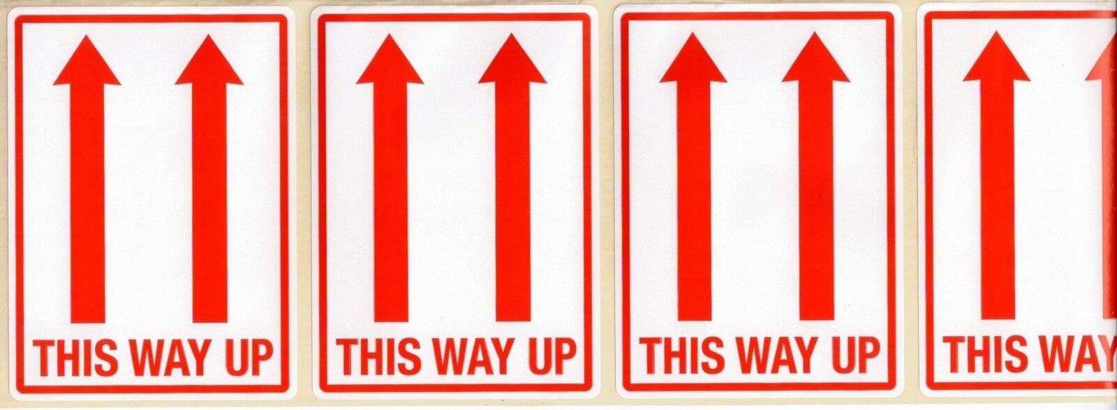 THIS WAY UP LABELS - 101 x 73mm x50 Self Adhesive stickers ...  THIS WAY UP LAB...
