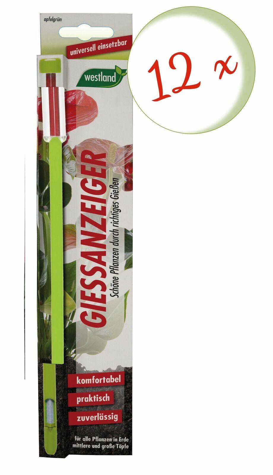 Savings Set: 12 X Westland Indicator For Flower Soil, 26 CM Apple Green