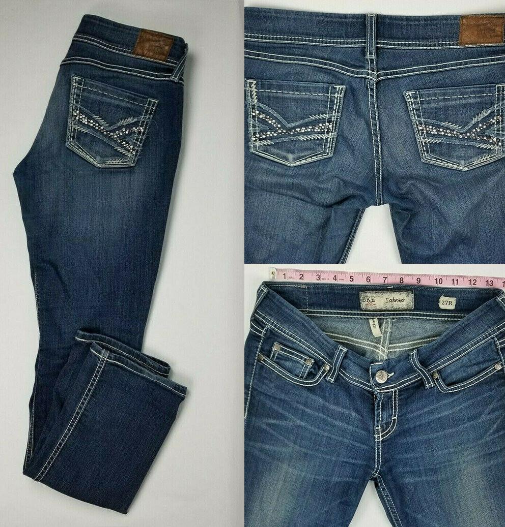 BKE Denim Womens Sabrina Skinny Stretch Distressed Jeans Size 27 x 31.5