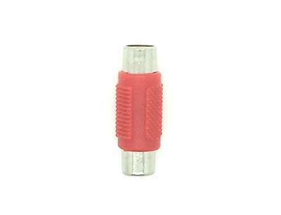 Adaptador Convertidor Mono Rca (h) A Mono Rca (m) Av Audio Video - Rojo Buono Per Succhietto Antipiretico E Per La Gola