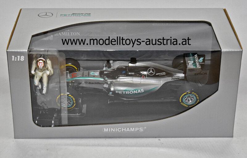 Mercedes AMG W06 Hybrid 2015 WELTMEISTER Lewis HAMILTON Sieger USA GP 1 18 PMA
