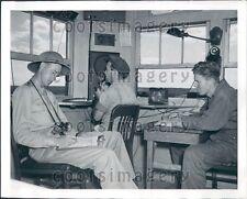 1941 Air Traffic Controllers n Tower Kelly Field Texas Press Photo